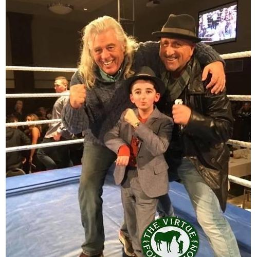 | Danny with Casey Wright and Jim Crescenzo, the founder of the East End Boys Club. | The Virtue Foundation
